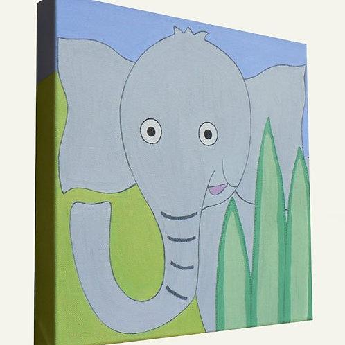 Jungle Elephant Canvas Art