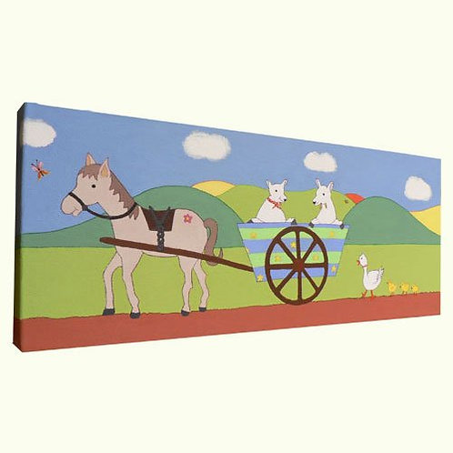Horse and Cart Canvas Art