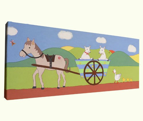 Horse and Cart Nursery Art