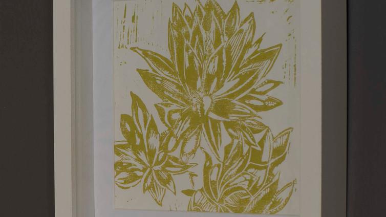 Succulent Lino Print