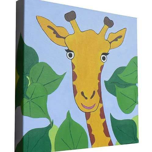 Tree Top Giraffe Canvas Art