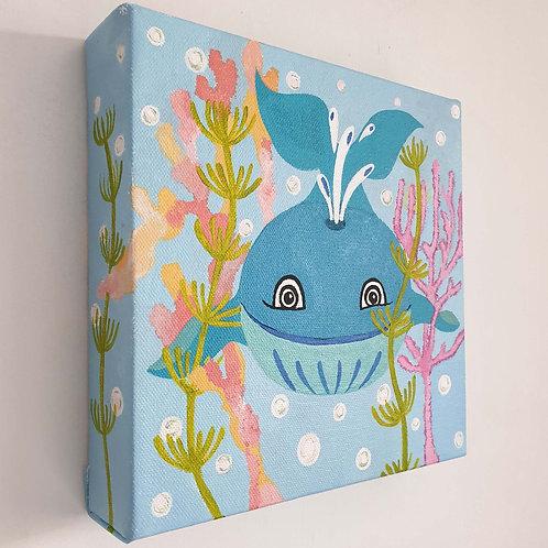 Underwater Whale Canvas Artwork