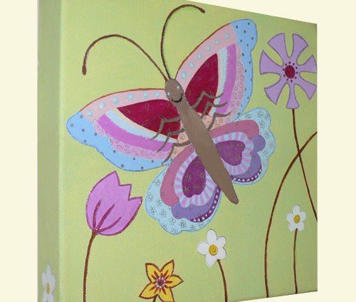 Butterfly Nursery Canvas