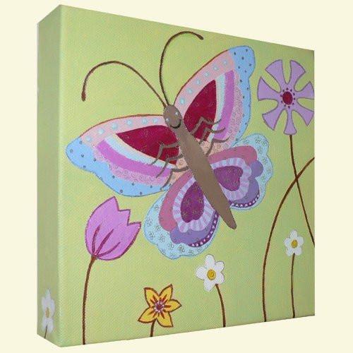 Butterfly Nursery Canvas