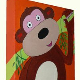 Swinging Monkey Canvas Art