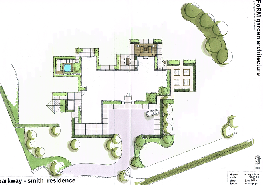 Plan examples garden architecture landscape design for Landscape design christchurch nz