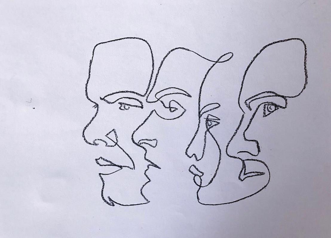 Simple Continuous Line Art : Natcevart sketchbook