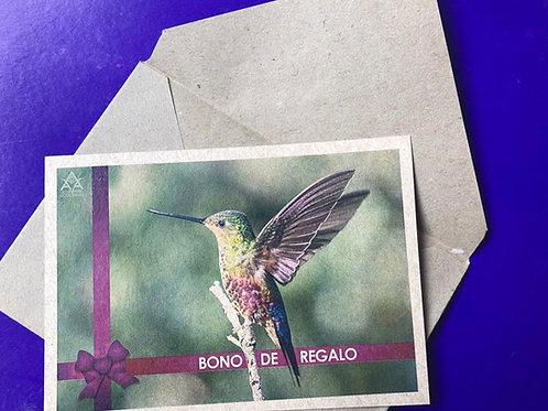 Bono de regalo - Visita al Observatorio de Colibríes