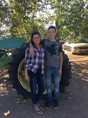 Gavin and me at theapple orchard 2017