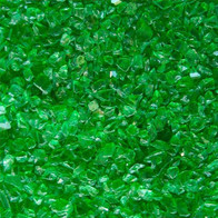 Vidrio verde triturado
