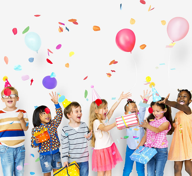 Group of kids celebrate birthday party t