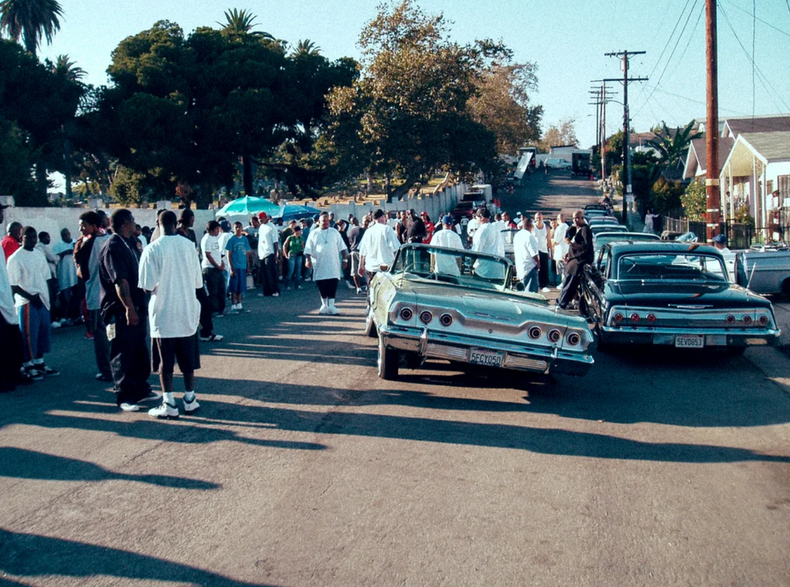 One Blood music video set, Compton Los Angeles. 2006.