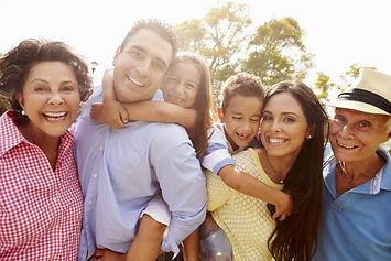 Multi Generation Family Having Fun In Ga