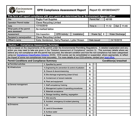 EPRCompliance Report 2019