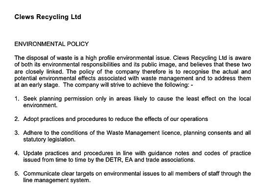 Environmental Policy