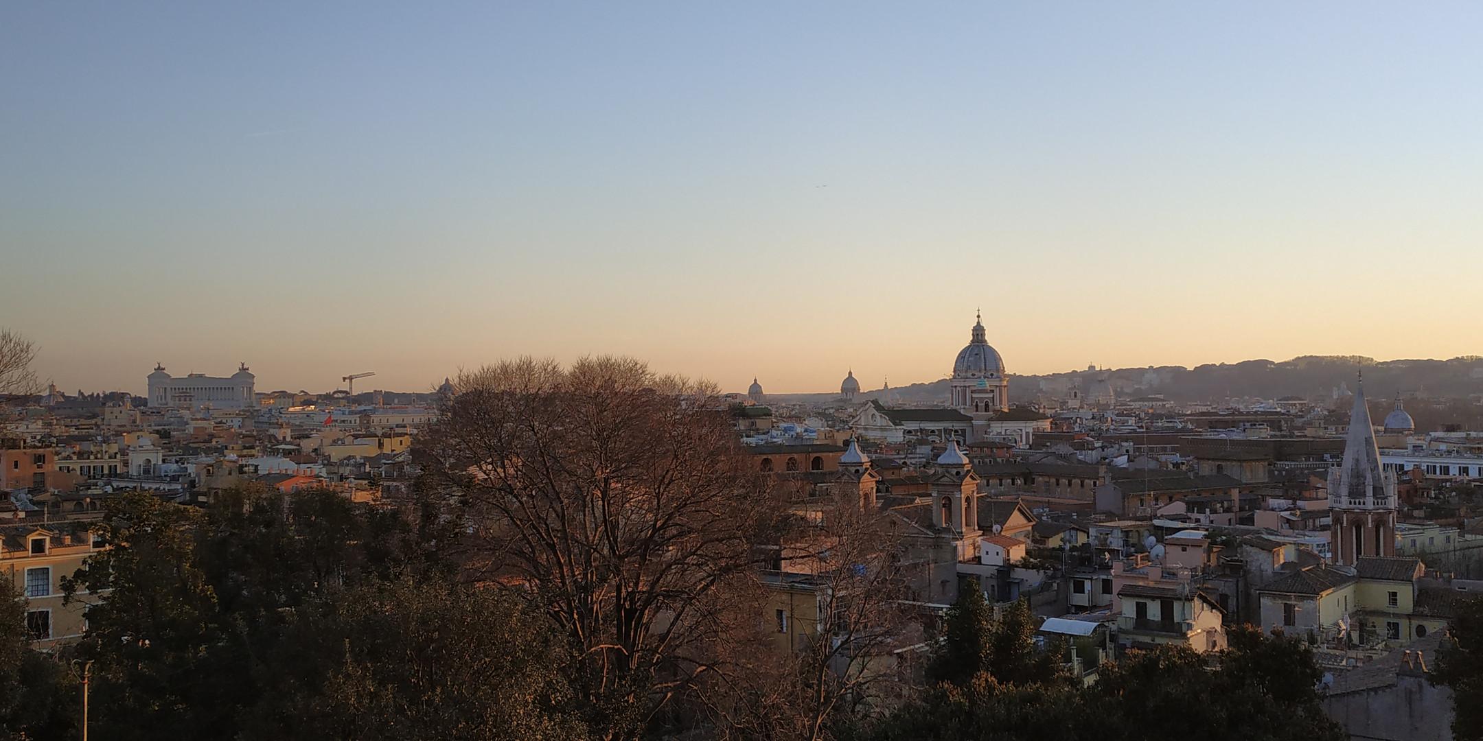 Veduta di Roma da Villa Borghese