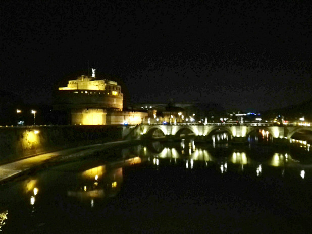 Castel Sant'Angelo - veduta notturna
