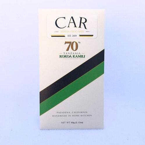 Car Artisan Chocolate Kokoa Kamili, Tanzania, 70% Dark - 60 g