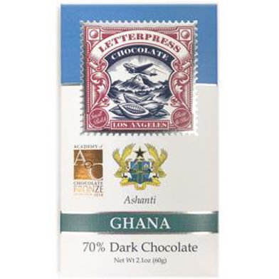 Letterpress Ghana, Ashanti 70 % - 2.1 oz