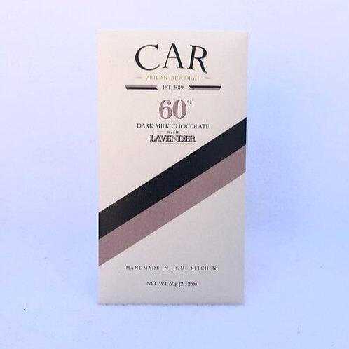 Car Artisan Chocolate Lavender, 60% Dark Milk - 60 g