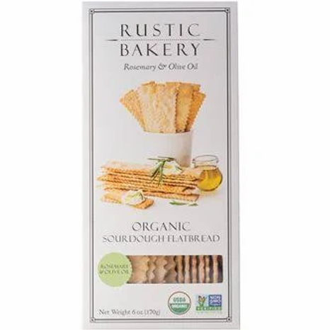 Rustic Bakery Organic Sourdough Flatbread, Rosemary and Olive Oil - 6 oz