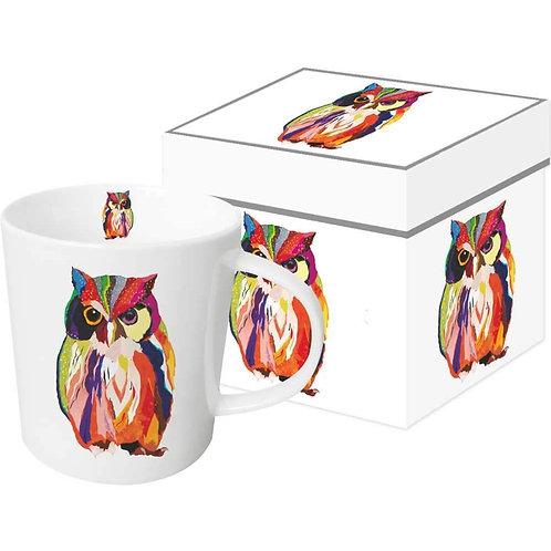 Leros Owl Gift-Boxed Mug