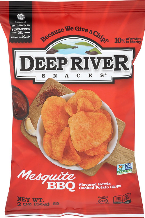 Deep River Kettle Chips Mesquite BBQ - 2 oz