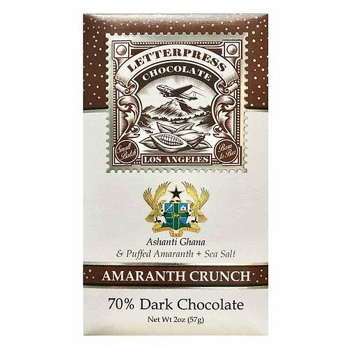 Letterpress Amaranth Crunch Ghana, Ashanti 70 % - 2.1 oz