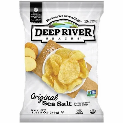 Deep River Kettle Chips Sea Salt - 2 oz