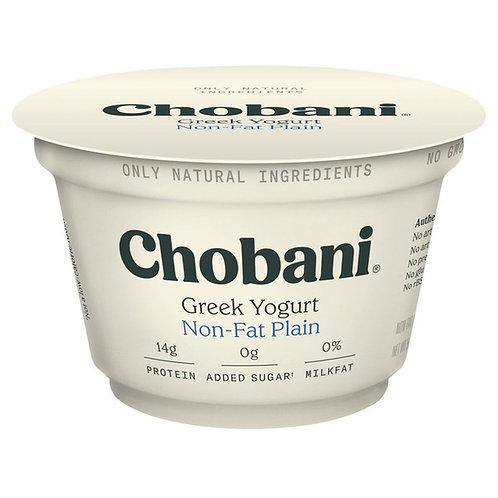 Chobani Non-Fat Plain Greek Yogurt - 5.3 oz