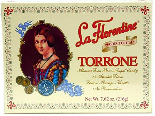 La Florentine Torrone Italian Soft Almond Nougat Candy - 18 pc