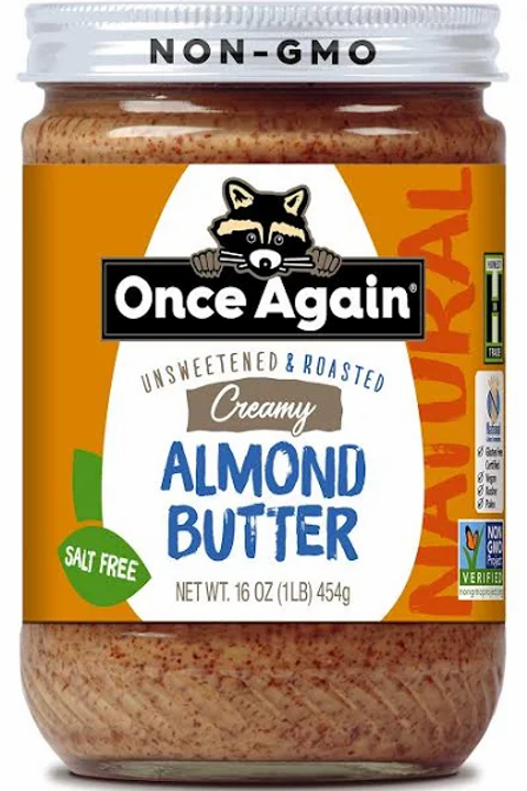 Once Again Almond Butter, Salt Free, Creamy - 16 oz