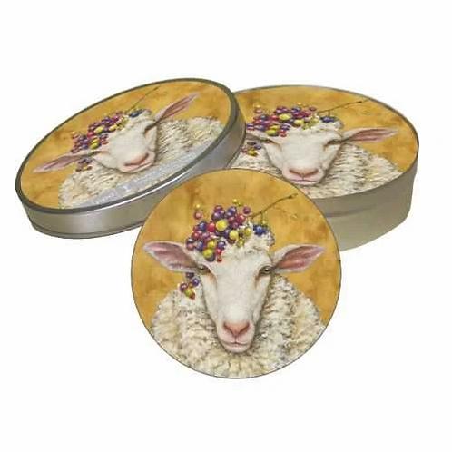 Vineyard Sheep Coaster Set