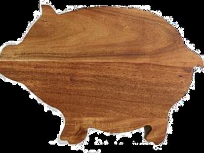 """Wood Pig Cutting Board 15"""" x 10"""""""