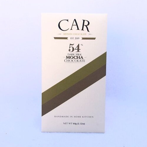 Car Artisan Chocolate Mocha, 54% Dark Milk - 60 g