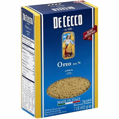 De Cecco Orzo, No. 74 - 1 lb