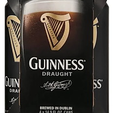 Guinness Beer, Draught Stout - 4 pack