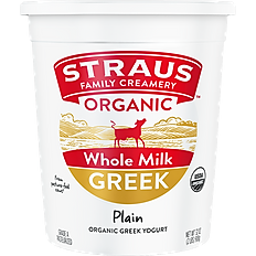 Straus Greek Yogurt Plain - 32 oz