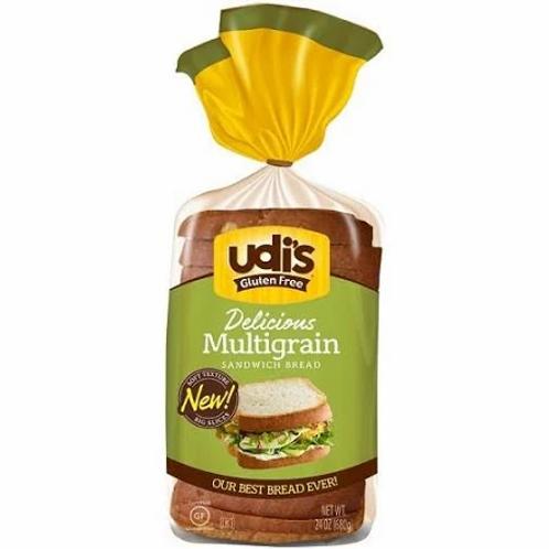 Udi's Gluten Free Multigrain Sandwich Bread, Frozen