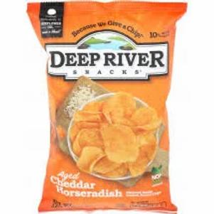 Deep River Kettle Chips Aged Cheddar Horseradish - 2 oz