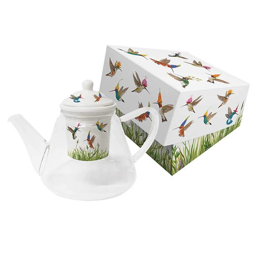 Meadow Buzz Glass Teapot