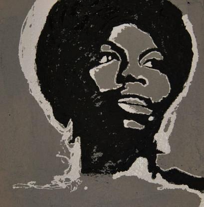 Nina Simone/Concrete,Tar, WhiteLate