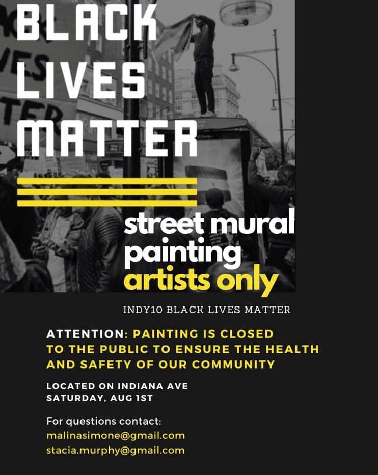 Black Lives Matter Street Mural  Indiana