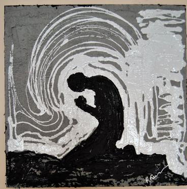 Prayer/Concrete,Tar,White LatexPain