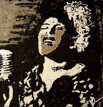 Billie Holiday/Concrete, Tar, White Latex