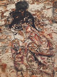 Rebecca Robinson_Soul Searching_Concrete, Tar, White Latex on Canvas_ 36 x 48.jpg