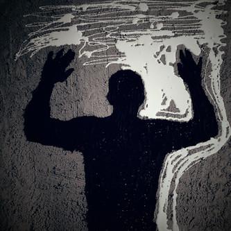 HandsUP/Concrete, Tar, White Latex