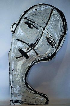 Portrait II Concrete, Tar, White Latex o