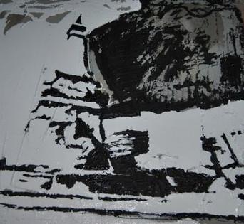 Monument Circle/Concrete, Tar_White Late