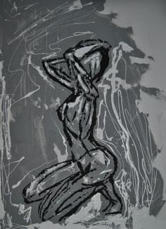 Lovely Nude-Concrete, Tar, White Latex